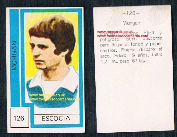 1974 Scotland World Cup Willie Morgan - from Chile - Burnley Man Utd  Bolton